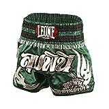 Leone 1947 AB756 Pantalones Cortos de Kick-Thai, Unisex – Adulto, Verde, S