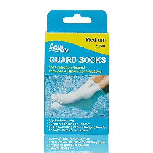 AquaSafe Verruca Guardia Calcetines para Natación – Mediana – Talla 3 – 5