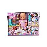 Nenuco - ¿Qué comemos hoy?, muñeco bebé con accesorios de comiditas y merienditas para hacer las...