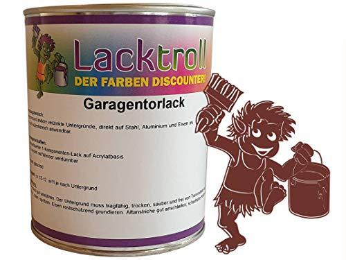 Garagentorlack Oxidrot RAL 3009 Seidenglanz 750ml