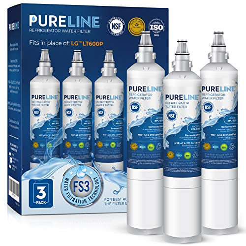 Kenmore 9990 & LG LT600P Water Filter Replacement. Compatible with Kenmore 9990, LG 5231ja2006a, LG LT600P, Kenmoreclear 46-9990-PURELINE (3 Pack)