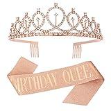 metagio Kit d'Accessoires Anniversaire de Tout Âge Birthday Queen Reine...