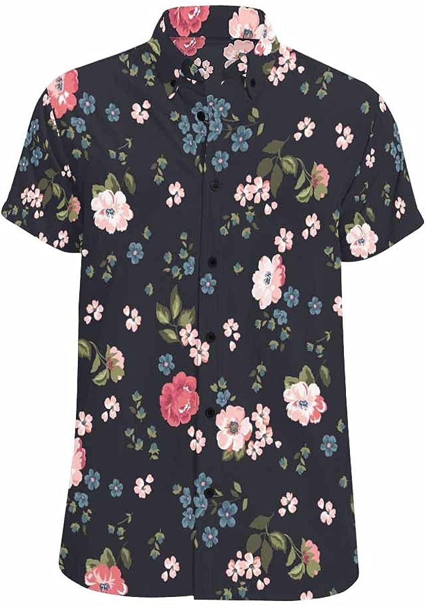 InterestPrint Floral OFFicial shop Pattern Hawaiian Sh Shirt Looser-Fit Direct stock discount Summer
