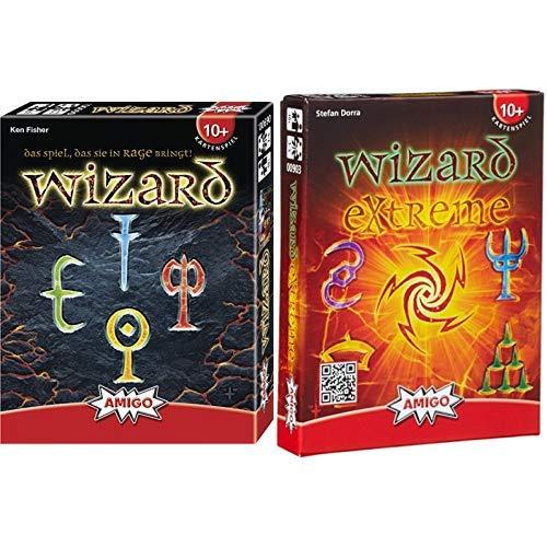 Amigo 6900 - Wizard, Kartenspiel &  00903 - Wizard Extreme, Kartenspiel