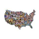 USA Shaped Puzzle Road Trip America