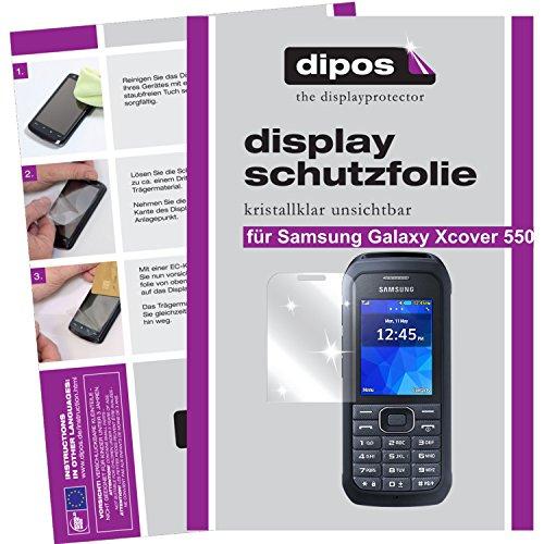 dipos–Protector de pantalla compatible con Samsung Galaxy Xcover 550(6unidades, transparentes)