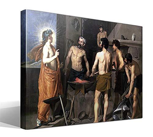 Cuadro Canvas La Fragua de Vulcano de Diego Rodríguez de Silva y Velázquez