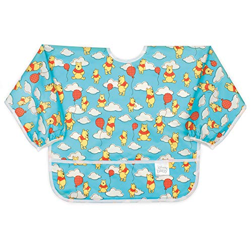 Bumkins Sleeved Bib Disney Baby Bib / Toddler Bib / Smock, Waterproof, Washable, Stain and Odor Resistant, 6-24 Months