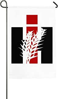 4GHdogQ CASE IH International Harvester Welcome Garden Flag, Premium Material, Seasonal Spring Summer Outdoor Funny Decorative Flags for Garden Yard Lawn, Gift for Children