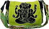 Guru-Shop Schultertasche, Hippie Tasche, Goa Tasche Ganesha - Grün, Herren/Damen, Baumwolle, Size:One Size, 23x28x12 cm, Alternative Umhängetasche, Handtasche aus Stoff