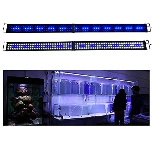 KZKR LED Aquarium Hood Lighting 72 - 78 inch Fish Tank Light Lamp for Freshwater Marine Saltwater Blue and White Decorations Light 6-7ft (34W) 180cm - 200cm