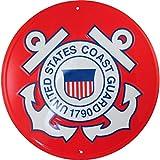 Tags America United States Coast Guard Emblem Metal Sign - USCG Logo, 12 inches