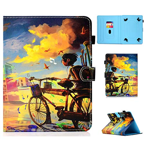 HereMore Universal Case for 7 Inch Tablet, Leather Stand Cover Protective Shell for Fire 7, Huawei MediaPad T3 7', Fusion5 7', Galaxy Tab A 7.0, Lenovo Tab E7/Tab3 7 Essential, iPad Mini, Boy