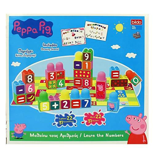 Bildo 8110 Peppa Pig Bloques con números, Multicolor