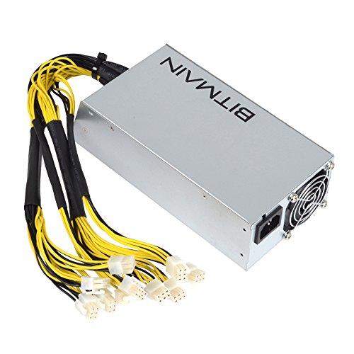 Adoner Bitmain APW3++ Power Supply PSU 12V 1200-1600W A3 PCI L3+ D3 S7 S9 110-220V NEW