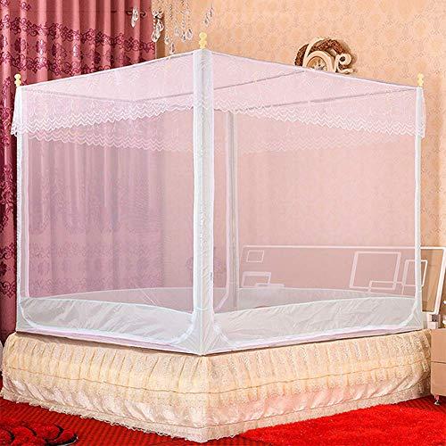 K.W Mosquitero Neta cifrado intensificación Cama Doble en casa de Mosquitos Tapa Cuadrada de 360 Grados Mallas contra Mosquitos Mosquitos Viento de la Princesa Lili