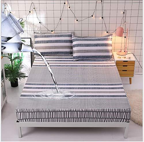 Bedtiantao matrasbeschermer, waterafstotend, met bloemenmotief bedrukt, waterbestendig, hoeslaken, matrasbeschermer van 100% katoen