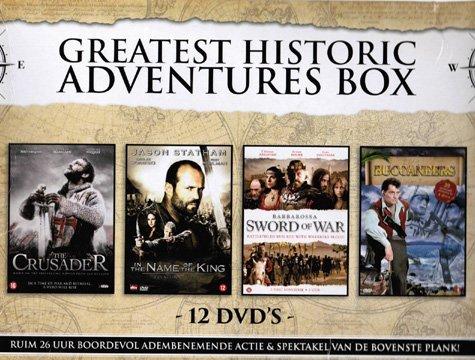 Greatest Historic Adventures (4 Mini-Series) - 12-DVD Box Set ( Arn: The Knight Templar (The Crusader) / In the Name of the King: A Dungeon [ Origen Holandés, Ningun Idioma Espanol ]