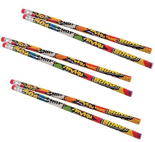 2 Dozen (24) Superhero Pencils/Party Favor/Giveaway/Student Reward/Prize