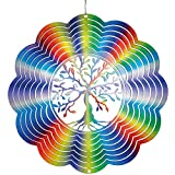 CIM Metal Wind spinner - Rainbow Tree of Life - 250mm - easily