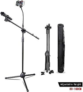 Webcast Bracket Soporte De MicróFono Ajustable Soporte TríPode, Soporte De MicróFono, Soporte De MicróFono Con Mochila, 80Cm-160Cm Ajustable Giro De 360º Para Selfie, GrabacióN, Webcast Etc.
