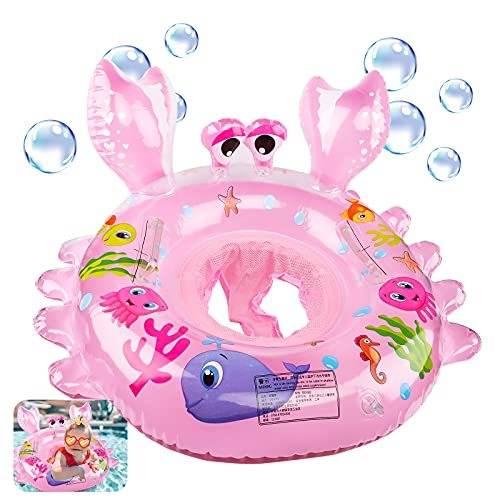 Gxhong Anello di Nuoto per Bambini, Baby Float Salvagente, Bambino Salvagente, Baby Nuoto Galleggiante, Piscina Salvagente per Bambini con Maniglie per Bambini Neonati 4-48 Mesi, Rosa
