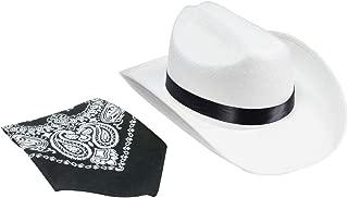 Aeromax Junior Cowboy Hat with Bandanna, White