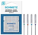 SCHMETZ - Agujas para máquina de coser universales (regular), varios tamaños 70/10, 80/12, 90/14 y...