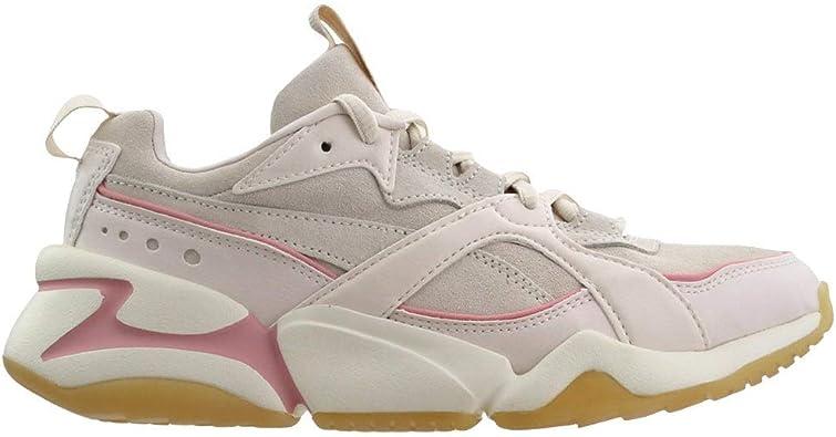 PUMA Womens Nova 2 Suede Casual Sneakers,