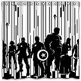 SMNVCKJ Marvel 's The Avengers - Cortina de ducha con impresión 3D, tela oscura, diseño de Spider-Man Iron Man (180 x 200 cm)
