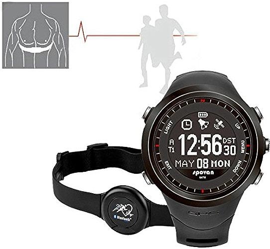 GPS Sport Watch Navigation Heart Rate Monitor Compass bleutooth