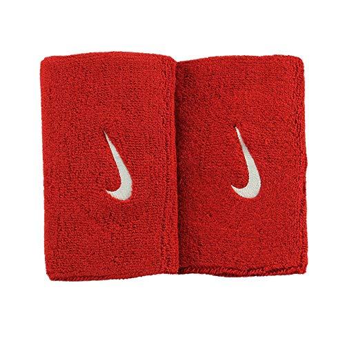 Nike Swoosh - Polsini tergisudore, Unisex, N.NN.05.601.OS, Varsity Rosso/Bianco, Taglia Unica