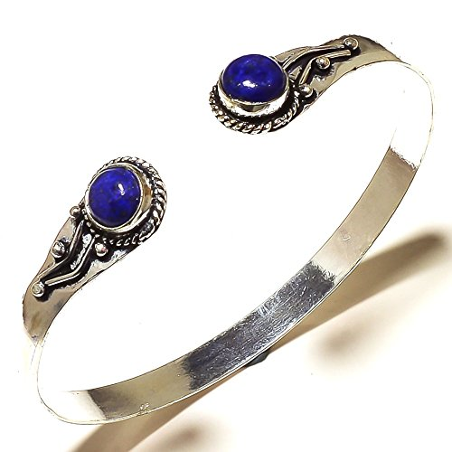 Shivi Blue Lapis Lazuli! Girls Bangle/Bracelet Free Size, Designer! Oxidized Sterling Silver Plated, Handmade! Jewelry from