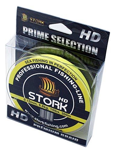 Stork HD, 4-filo linea di pesca intrecciata 300m (Fluo Giallo, 40 lbs   18.1 kg   0.29 mm)