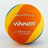 Mega Sport Winner Water Polo Ball - Balón de polo, diseño de remolino naranja,...