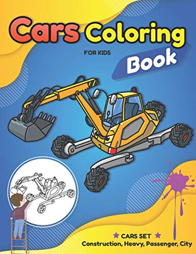 Cars Coloring Book for Kids: Learn and Fun with Cars