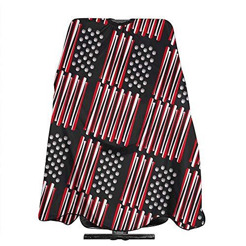 Friseur Cape Baseballschläger Usa Flagge Cape Tuch Zubehör Für Unisex Haarschneide Salon Friseur Wrap Haarschnitt Schürze Tuch Styling