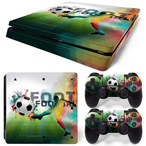 46 North Design Playstation 4 PS4 Slim Folie Skin Sticker Konsole FootBall aus Vinyl-Folie Aufkleber Und 2 x Controller folie