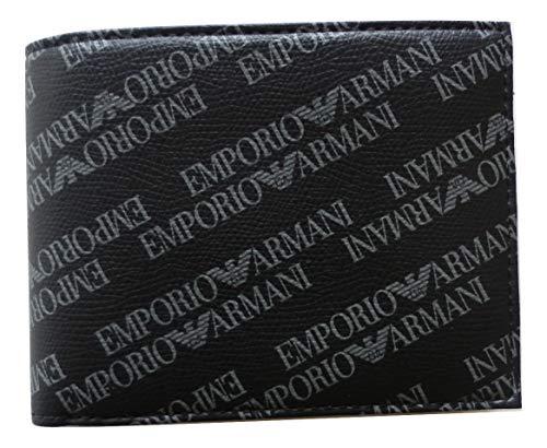 Emporio Armani Portemonnaie All-Over Print Nero, Y4R171