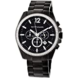 Wittnauer WN3028 Chronograph Black Ion Crystal Pave Bezel Stainless Steel Black Dial Men's Watch