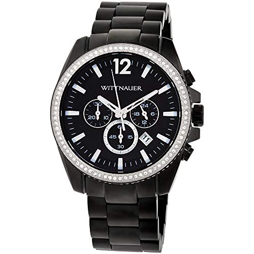 Wittnauer WN3028 Men's Lucas Chronograph Black Dial Black IP Steel Bracelet...