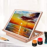 MIRATUSO Desktop Drawing Board A3 Desk Easel Sketching Board 4-Position Adjustable Table Easel Painting Board for Artists, Children, Beginners