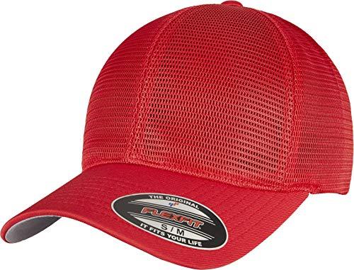 Flexfit Unisex 360 OMNIMESH Cap Baseballkappe, red, L/XL