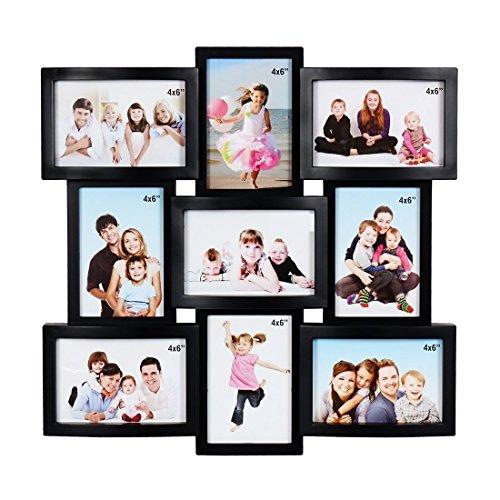 JaipurCrafts Premium Collage Photo Frame (Photo Size - 4 x 6, 9 Photos) (Black)