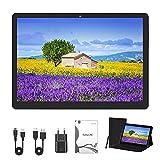 Tablet PC 10 Pulgadas (25,53 cm), Android 10.0, Tablet PC, 4GB / RAM, 64GB / ROM, 1200x800 FHD, Tarjetas SIM Dobles, WLAN, GPS, con Cubierta Protectora. (Negro)