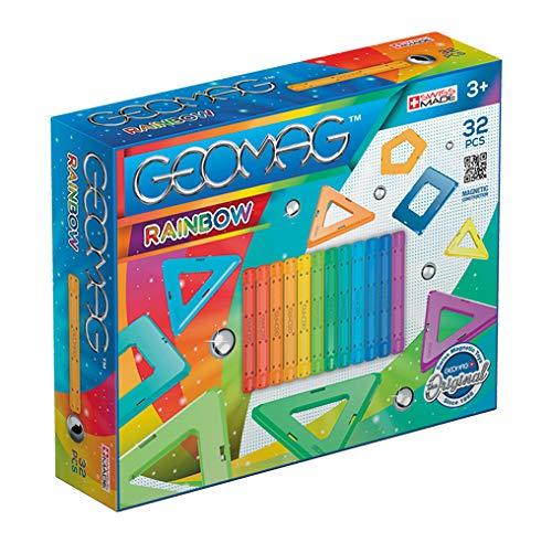 Geomag- Rainbow Gioco di Costruzione Magnetico, Multicolore, 32 Pezzi, 370