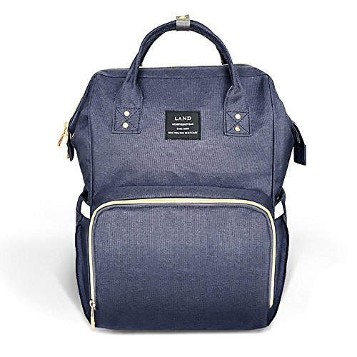 Diaper Bag Backpack, Ticent & Co Travel Nappy Backpacks Large Spacious Waterproof Tote Shoulder Bag Organizer for Mom & Dad, Navy Blue