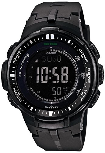 『[カシオ]CASIO 腕時計 PROTREK プロトレック PRW-3000-1A オールブラック メンズ [逆輸入モデル]』のトップ画像