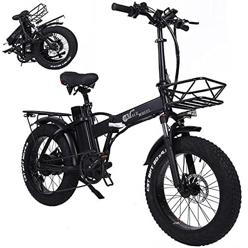 Bicicleta Plegable Eléctrica Neumático Gordo 20