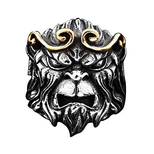 EzzySo Ring Monkey King, joyería Americana, el Rey del Mono Lucha contra la joyería de Anillo de Anillo de dominio de Buda (2 PCS),10